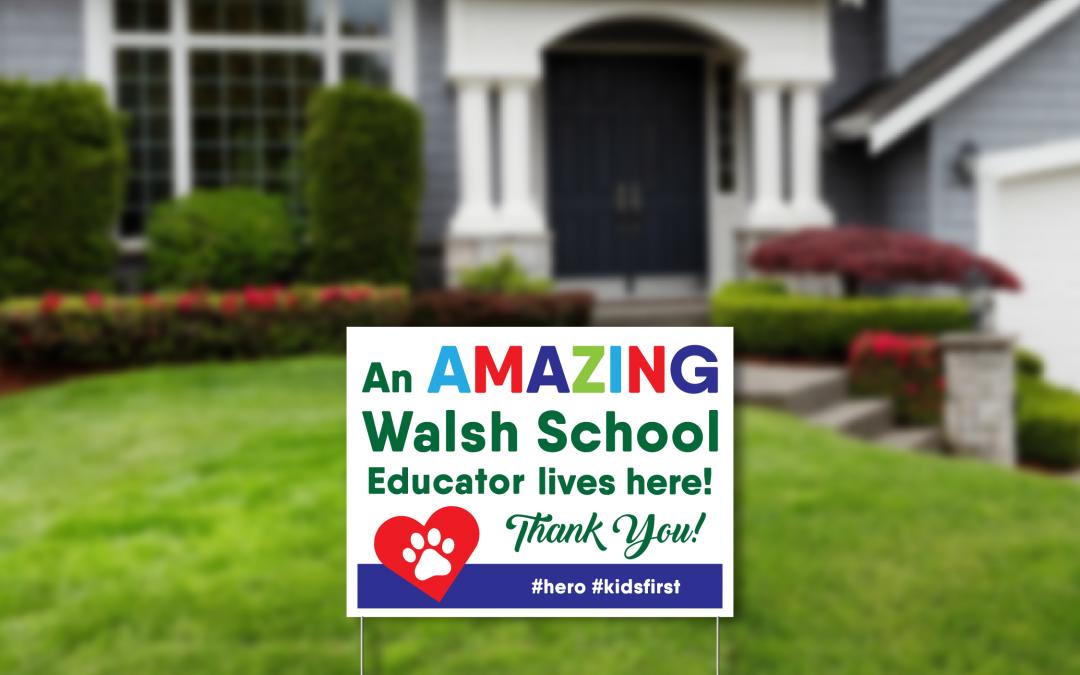 Mary Walsh Teacher Sign