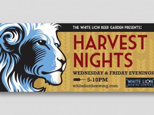 White Lion Fall Banner